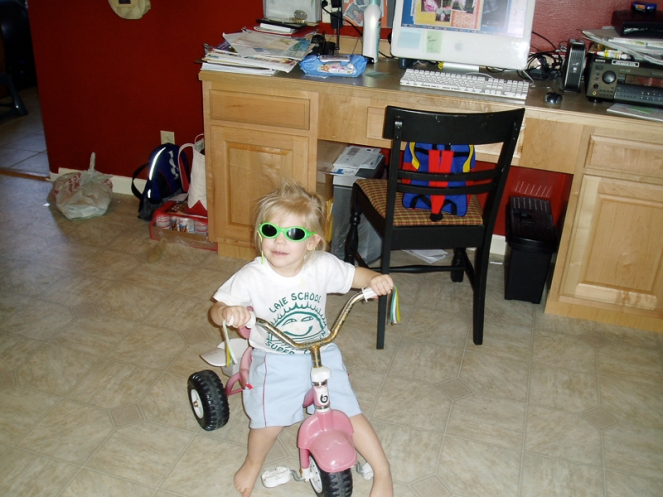 Emma riding her bike